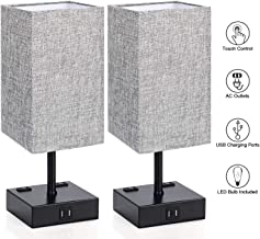 Touch Control Table Lamp, 3 Way Dimmable Bedside Desk Lamps with 2 USB Charging Ports 2..