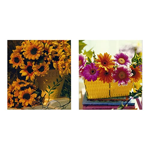 8 Flower Design Birthday Cards Envelopes Budget Greeting Card Pack
