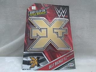Jakks WWE NXT Wrestling Championship Title Belt Buckle Easy Clip-On Title Buckle Ages 3+ New In Box