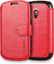 Galaxy S3 Mini Case Wallet,Mulbess [Layered Dandy][Vintage Series][Wine Red] - [Ultra Slim][Wallet Case] - Leather Flip Cover with Credit Card Slot for Samsung Galaxy S3 Mini i8190