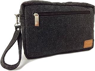 Bolso de mano vertical / horizontal para hombre, bolso de mano para documentos, viaje, Dashcam, smartphone