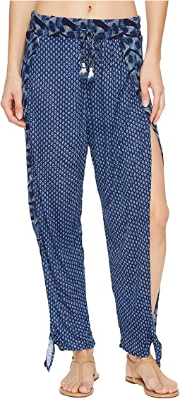 Lucky Brand Nomad Ikat Ankle Tie Pants Cover-Up