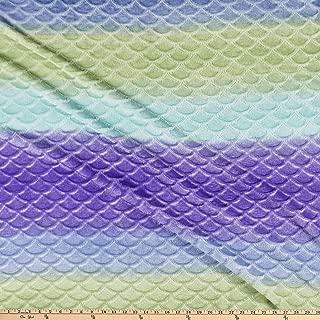 Mook Fabrics Plush Fleece Mermaid Ombre Fabric, Green, Fabric By The Yard