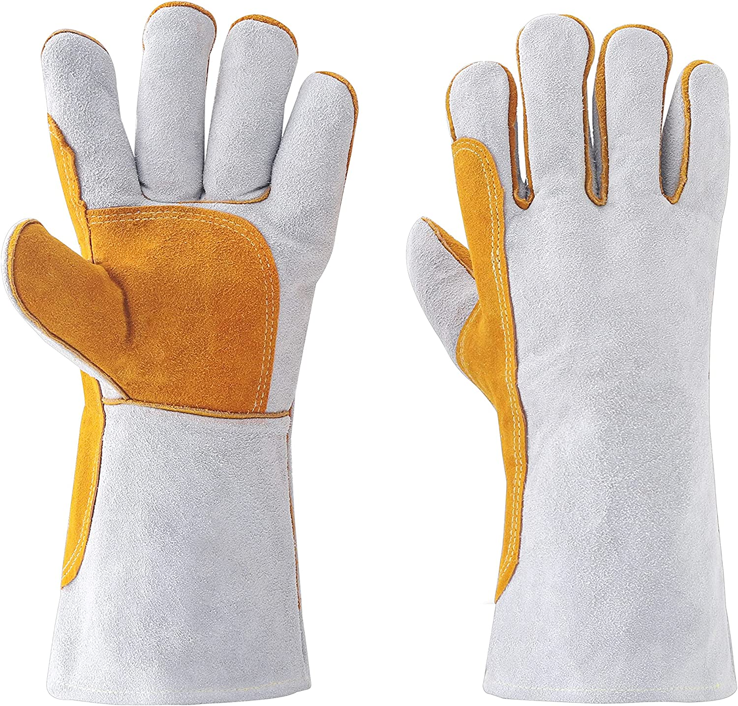 Leather Super beauty product restock quality top! Forge Mig Popular shop is the lowest price challenge Stick Welding Gloves Heat Resistant Fire Mitt