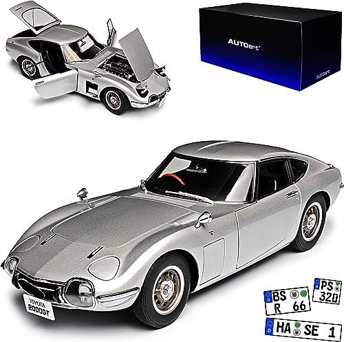 AUTOart Toyota 2000 GT Coupe Silber 1965 1967-1970 78752 1 18 Modell Auto mit individiuellem Wunschkennzeichen