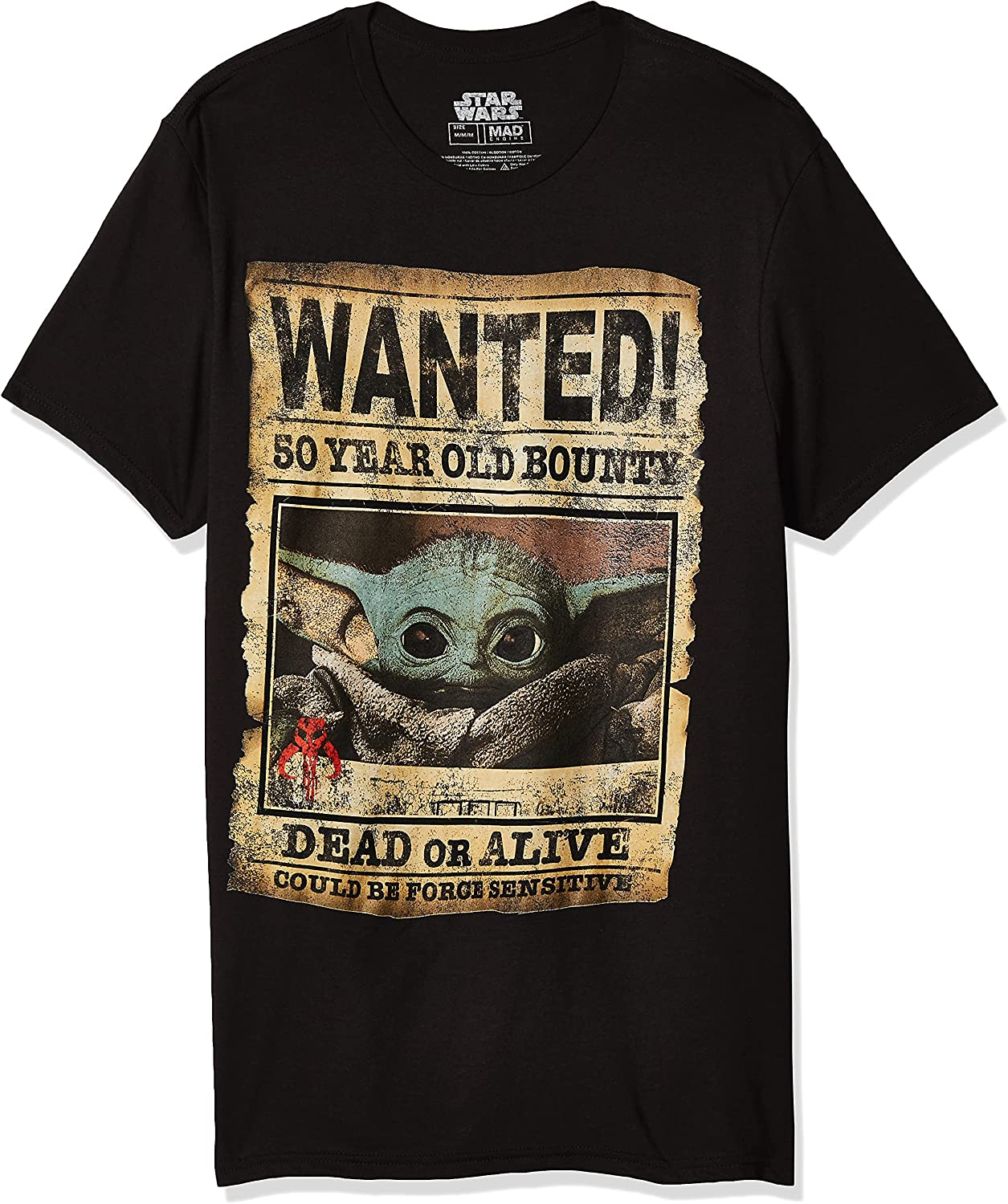 STAR WARS Men's Baby Yoda T-Shir Mandalorian Poster Child Wanted Sales of SALE items from new works Rare