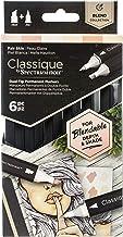 Spectrum Noir Classique Blend Alcohol Marker Dual Nib Pens Set-Fair Skin-Pack of 6