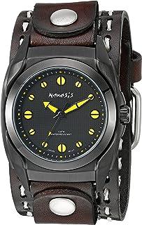 ネメシスMen 's 081dbdsthy Eternityシリーズアナログディスプレイ日本クォーツブラウン腕時計