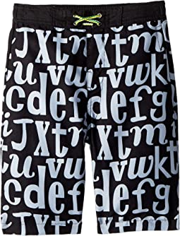Appaman Kids Allover Letter Print Swim Trunks (Toddler/Little Kids/Big Kids)