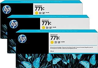 HP B6Y34A - Cartucho de tinta para DesignJet Z 6200/6200 42 inch/60 inch, 775 ml (pack de 3) Amarillo