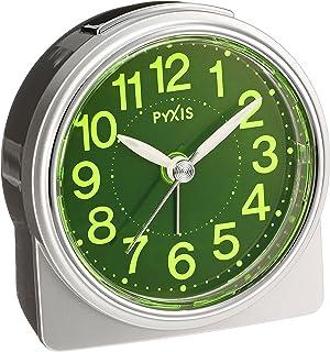 セイコー クロック 目覚まし時計 アナログ 集光樹脂文字板 PYXIS ピクシス 銀色 メタリック NR439S SEIKO