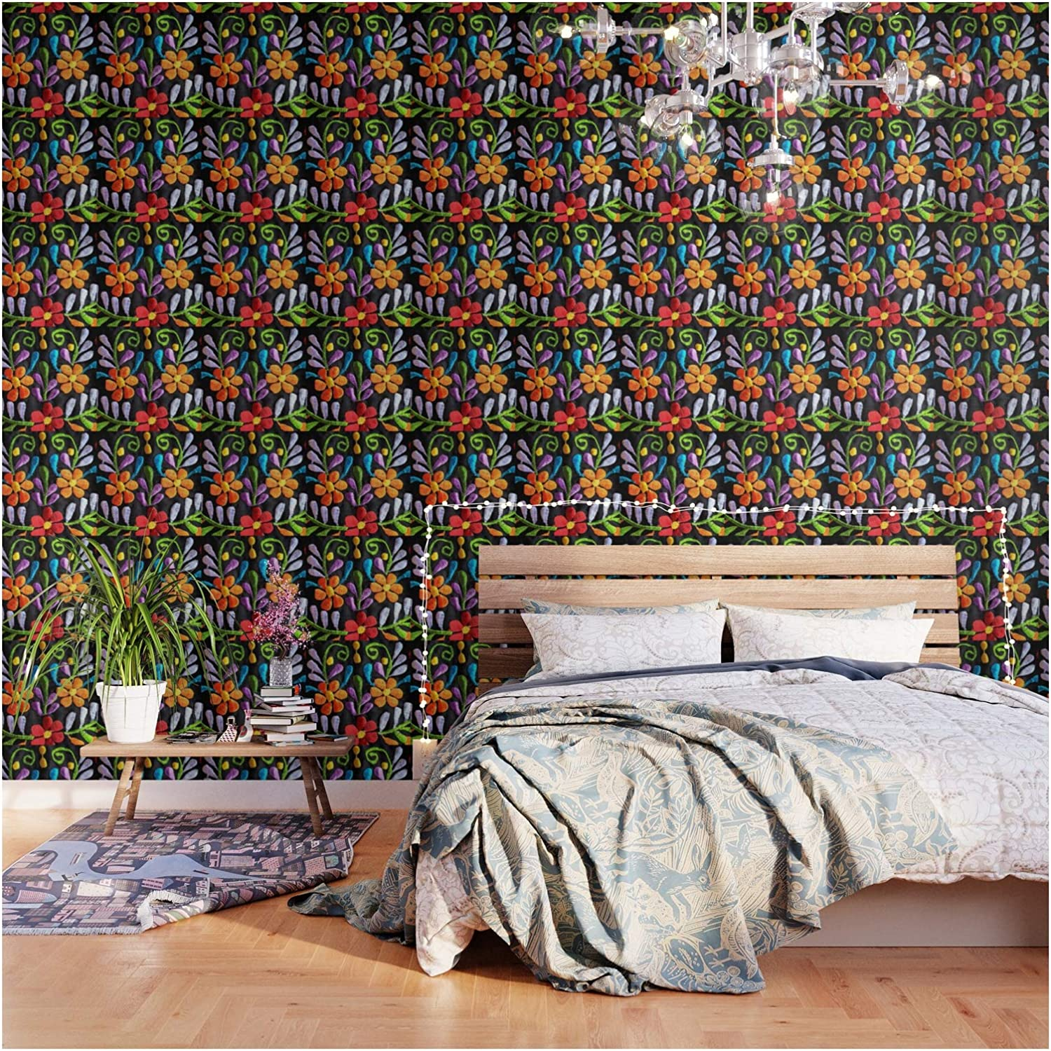 Mexican Flowers by Tina Salazar on Max 59% OFF Wallpaper Max 65% OFF and Peel - 2' Stick