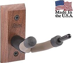 String Swing CC01V-BW Hardwood Home & Studio Wall Mount Violin Hanger - Black Walnut