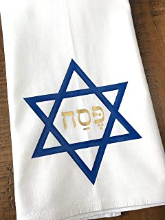 Passover Kitchen Towel Star of David and Pesach