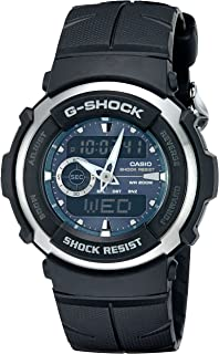 Casio Men's G-Shock G300-3AV Shock Resistant Black Resin...