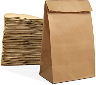 Eco Friendly Recycled Brown Lunch Bags Paper Disposable for Food Homemade Popcorn Thickness Weight 6 lb 250 Pk