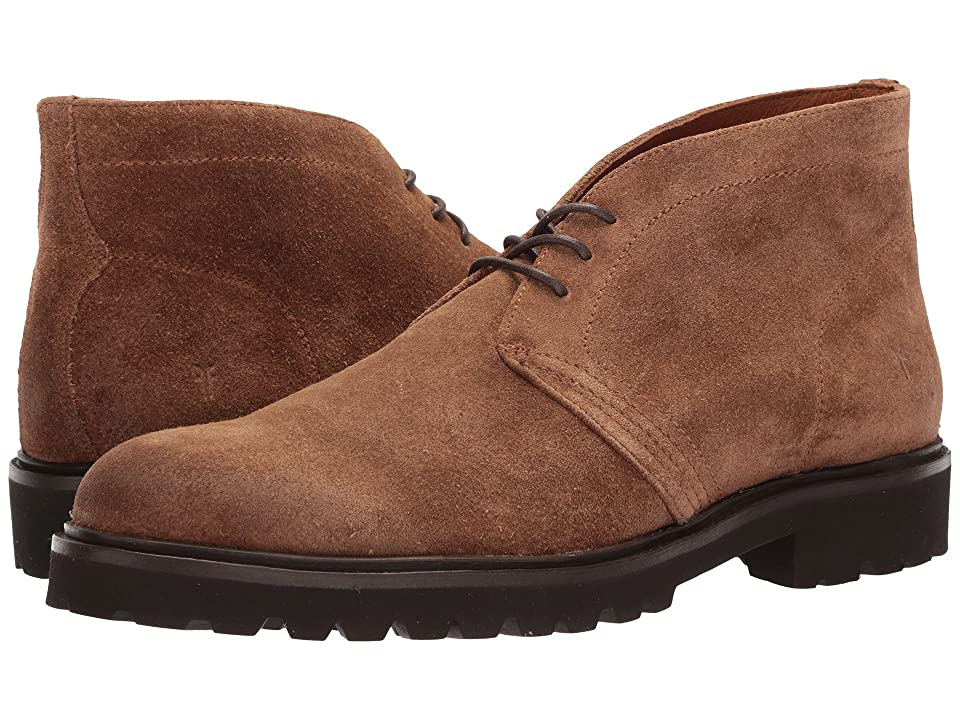 Frye Edwin Chukka (Fawn Waterproof Oiled Suede) Men