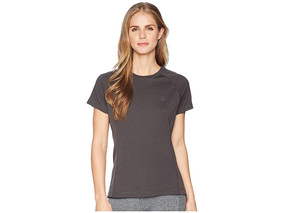 Fjallraven Abisko Vent T-Shirt (Dark Grey) Women