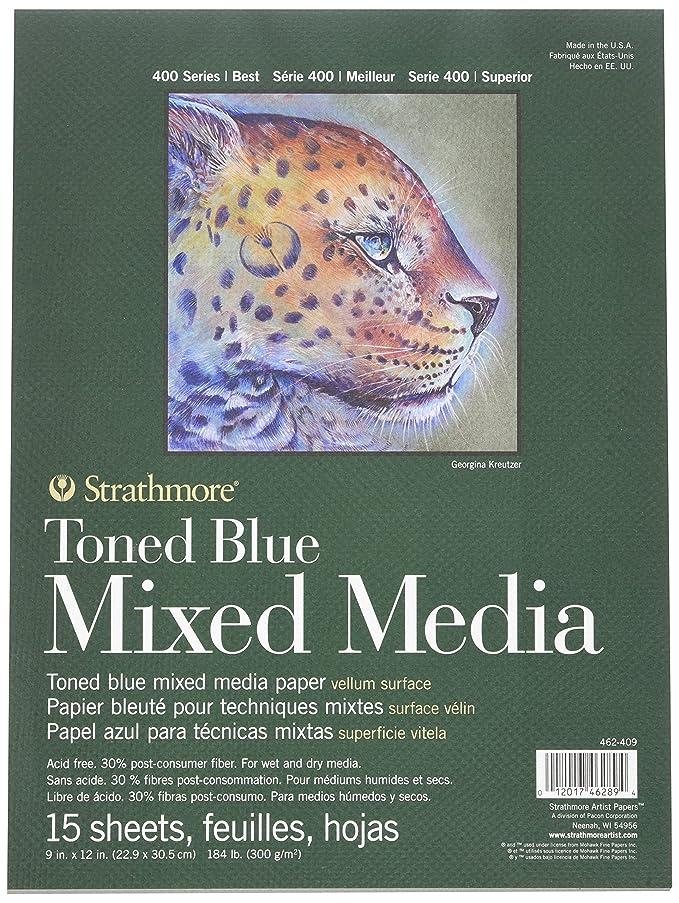 400 Series Toned Blue Mixed Media Pad, 9