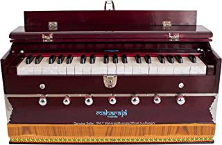 MAHARAJA Harmonium 7 Stopper - 39 Keys - Comes with Bag - Tuned to A440 - Blemished - Mahogany Color (GSB-DB)