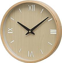 Unity Brora Wood Case Roman Numeral and Baton Dial Wall Clock, Cream, 26 x 26 x 3 cm