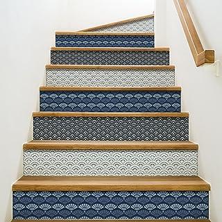 Playa Adhesivos para contremarches de escaleras, Vinilo,