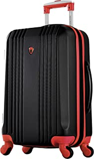 "Olympia Apache Ii 21"" Carry-on Spinner, BLACK+RED, One Size"