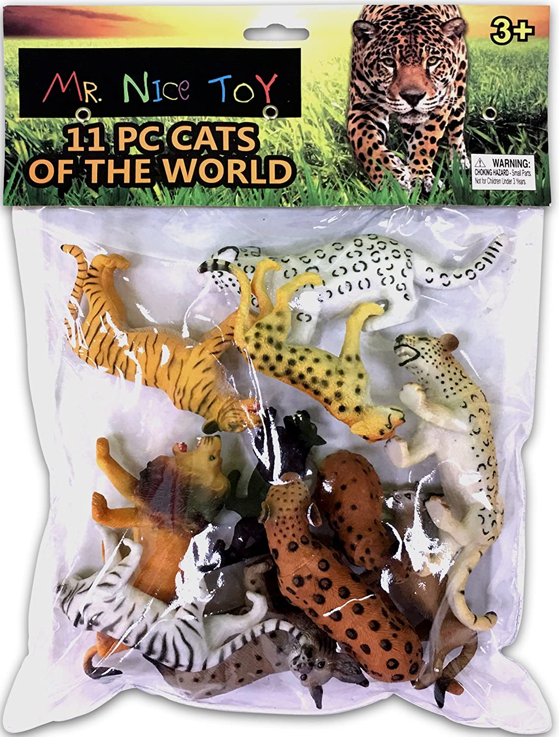 Mr. Nice Toy 11 Piece Cats of The World Assortment 3  to 6  Figures