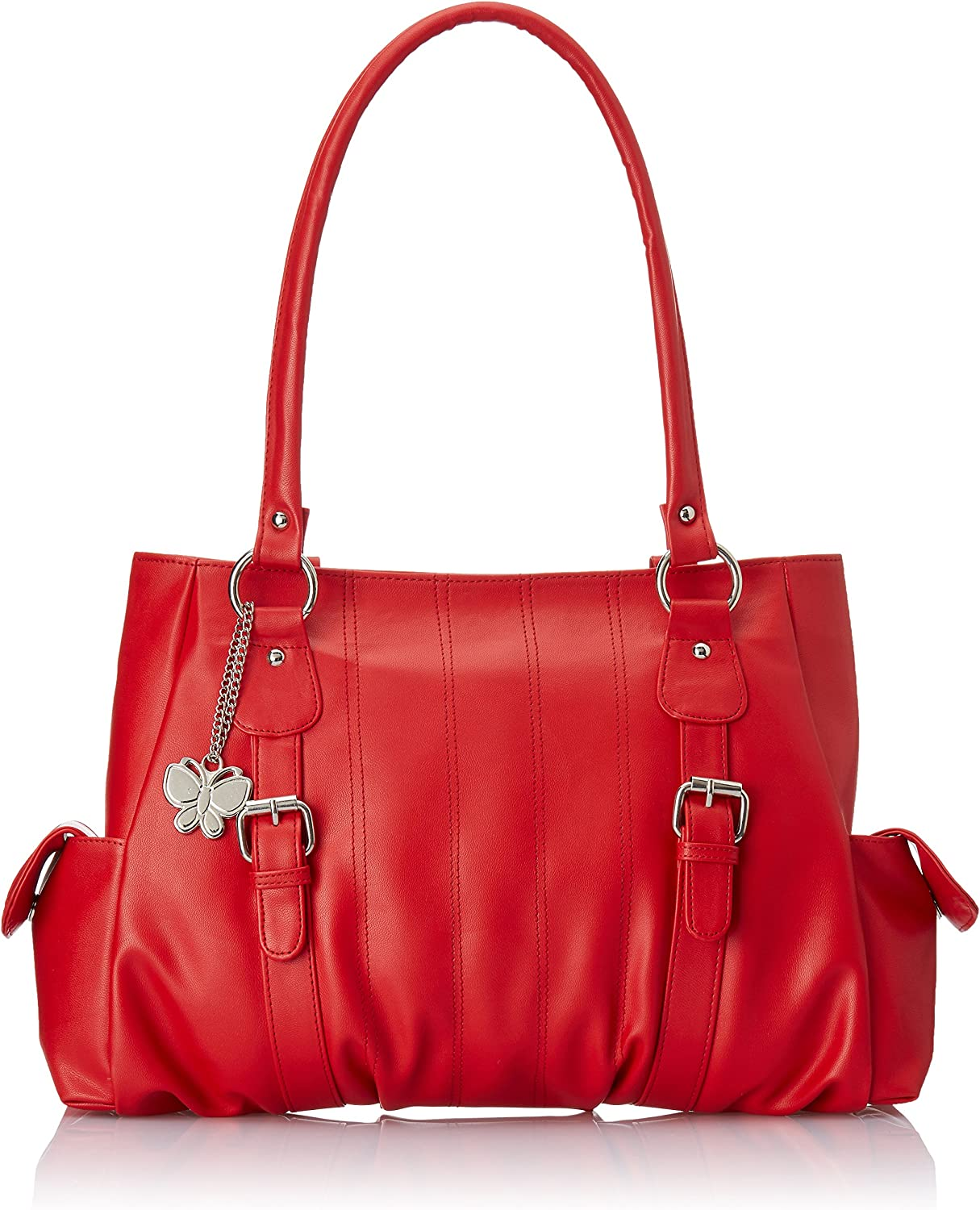 Butterflies Women's Handbag (Red) (BNS 0406 RD)