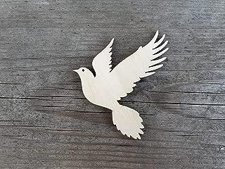 Unfinished wood shapes - Bird shape, Dove cutout, Bird cutouts, Laser cut doves