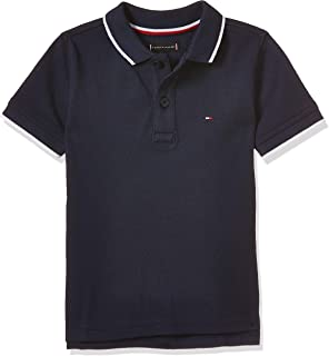 Tommy Hilfiger Boy's Back Shield Embroidered Short Sleeve Polo
