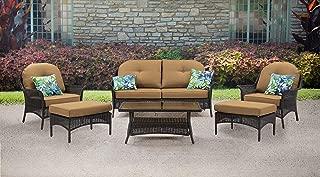 Hanover SMAR-6PC-TAN San Marino 6 Piece Patio Set, Country Cork Outdoor Furniture
