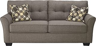 Ashley Furniture Signature Design - Tibbee Full Sofa Sleeper - Sleek Tailored Couch with Pull Out - Slate