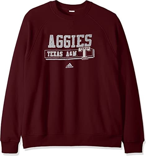 Adidas Texas A&M Aggies NCAA Hommes's PHYS Ed Crew Fleece Sweatshirt Chemise