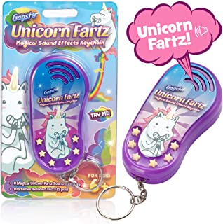 Unicorn Fartz Magical Farts Noise Maker - Hilarious Fart Machine with 6 Sounds - Unique and Funny Prank Gag Gift for Kids and Adults – 6 Magic Farting Unicorn Sound Effects with Keychain Attachment