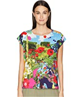 Paul Smith - Floral Woven Knit T-Shirt