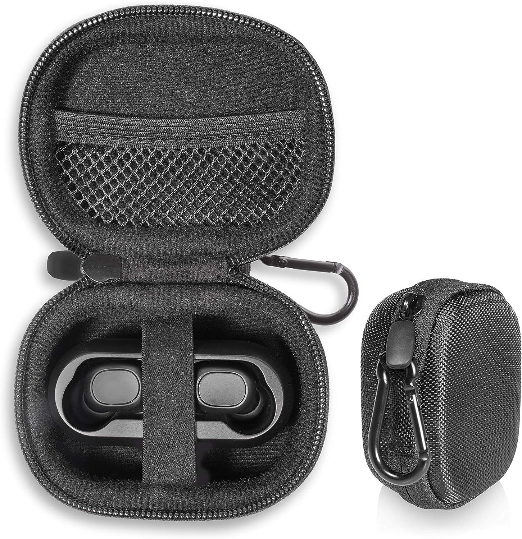 True Wireless Earbud Case for SoundPEATS True Wireless Bluetooth Earbuds in-Ear Stereo Bluetooth Headphones Wireless Earphones, Mesh Pocket for Cable, Carabiner