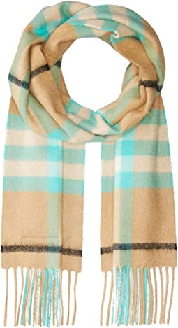Exploded Check Cashmere Scarf