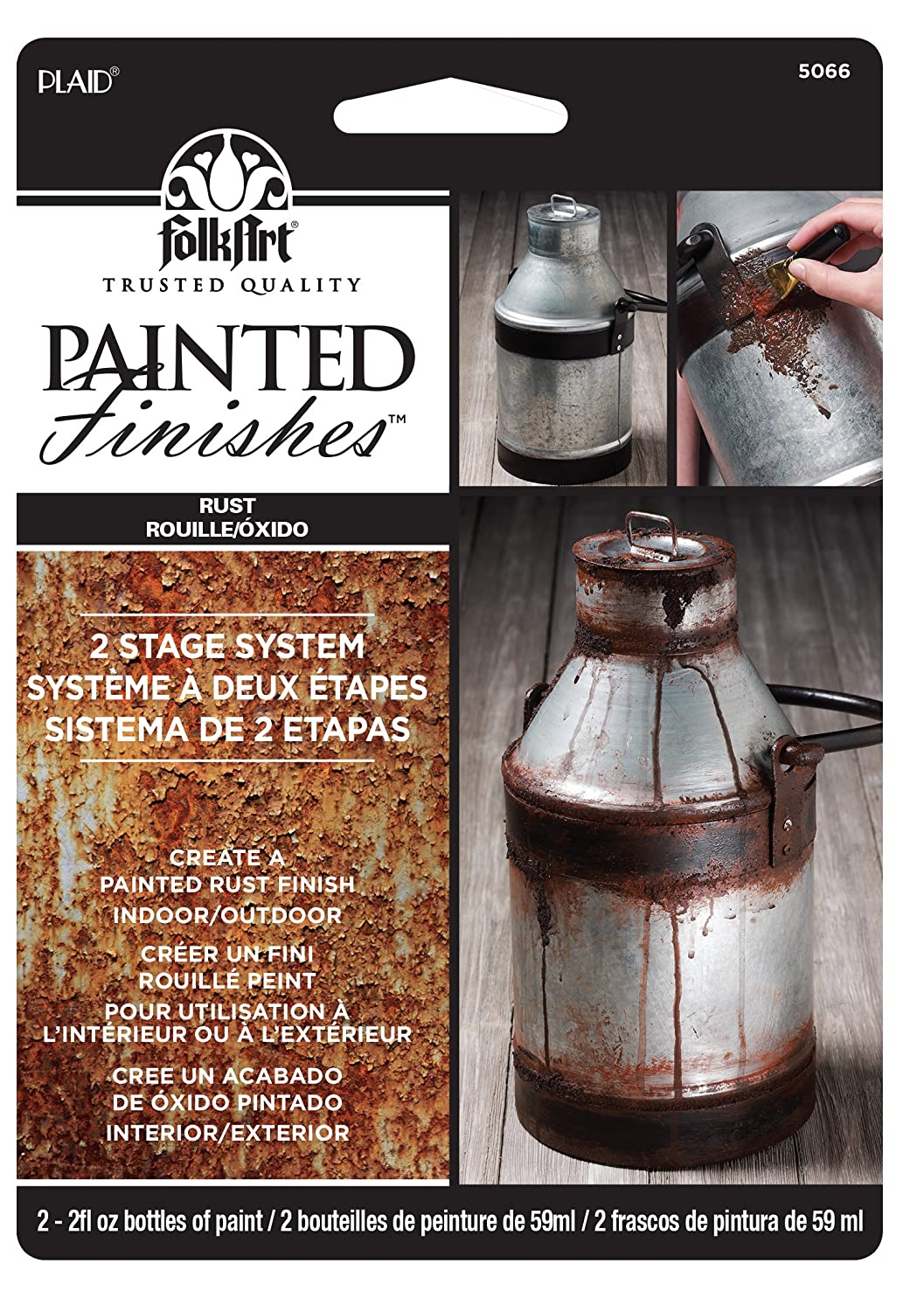 FolkArt Painted Finishes Set (2 Ounce), 5066 Light Dark Rust Carded, 2 oz,