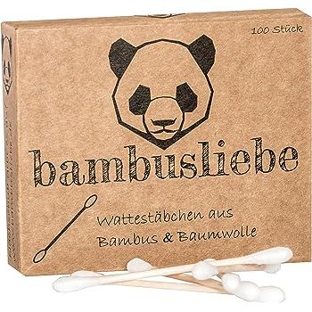 ✮ bambusliebe ✮ 6 paquetes de bastoncillos de algodón de bambú ♻ para niños y adultos ♻ bastones de bambú y algodón suave ♻ sostenible ✅ vegano ✅ compostable ✅: Amazon.es: Salud y cuidado personal