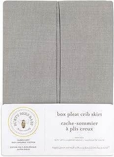 Burt's Bees Baby - Crib Skirt, Solid Color, 100% Organic Cotton Crib Skirt for Standard Crib and Toddler Mattresses (Grey)