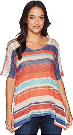 Short Sleeve Red Navy Stripe Tunic