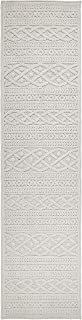 """Orian Rugs Boucle Collection Indoor/Outdoor High-Low Jenna Runner Rug, 1'11"""" x 7'6"""", Natural Ivory"""