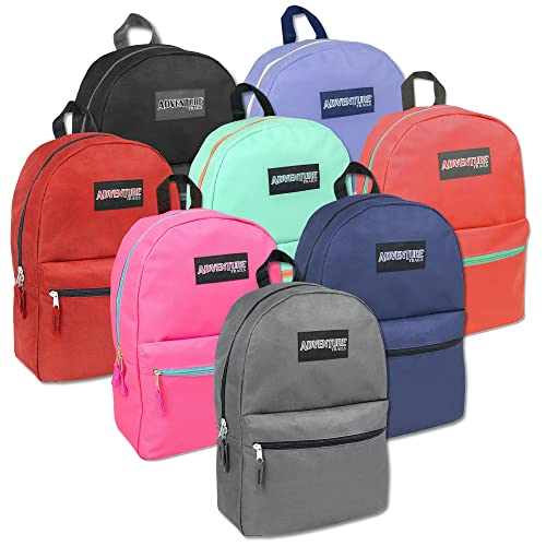 9abe6e27b087 Classic 17 Inch Backpack - 8 Color Case Pack 24