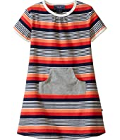 Toobydoo - Short Sleeve Dress w/ Grey Pocket (Infant/Toddler)