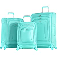 Olympia USA Luxe 3-Piece Expandable Spinner Luggage Set (Mint Green)
