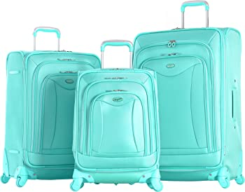 Olympia USA Luxe 3-Piece Expandable Spinner Luggage Set