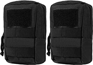 LefRight 2 Pack MOLLE Pouch Multi-Purpose Compact Tactical Accessory Bags Small Utility Pouches