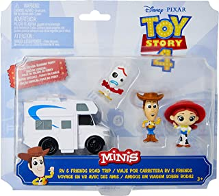 Toy Story 4 - Mini Figuras 3 Pack + Veículo, Mattel, GGJ90, Colorido