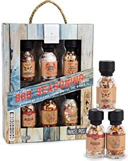 Modern Gourmet Foods, BBQ Seasoning Collection, Variety 6 Pack, Flavours Include Southwest BBQ Rub, Chilli Salt, Cajun BBQ...